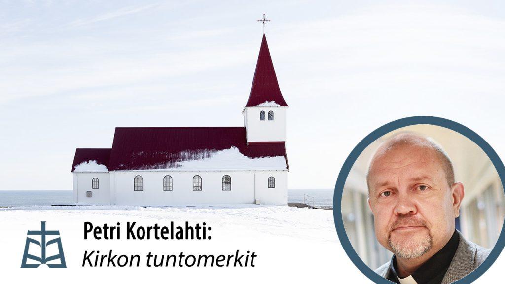 Kirkon tuntomerkit luennon juliste