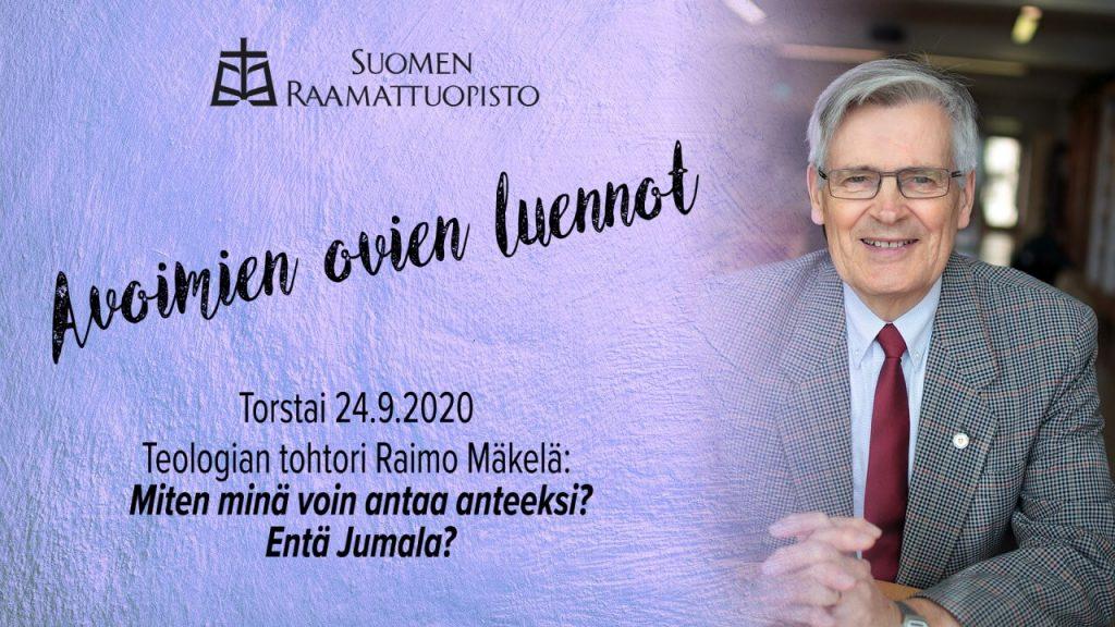 Raimo Mäkelän anteeksiantoluennon mainos