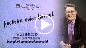 Juha Vähäsarjan yleisöluento aiheesta Joka päivä Jumalan kämmenellä