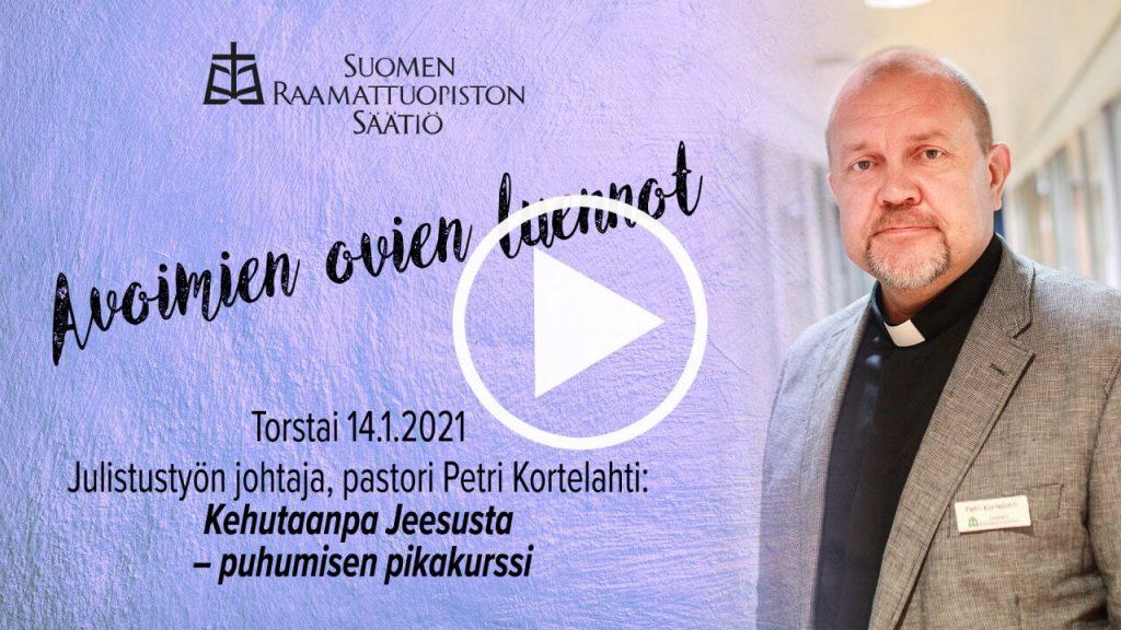 Petri Kortelahden yleisöluento Kehutaanpa Jeesusta Suomen Raamattuopistossa