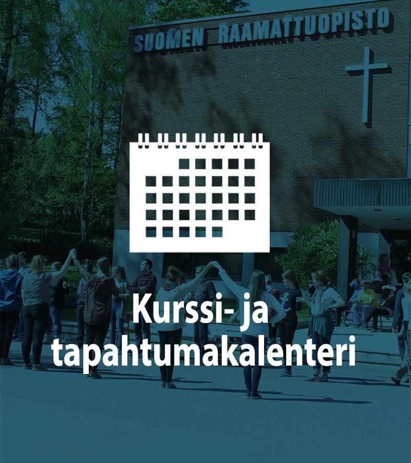Suomen Raamattuopiston kurssi- ja tapahtumakalenterin logo