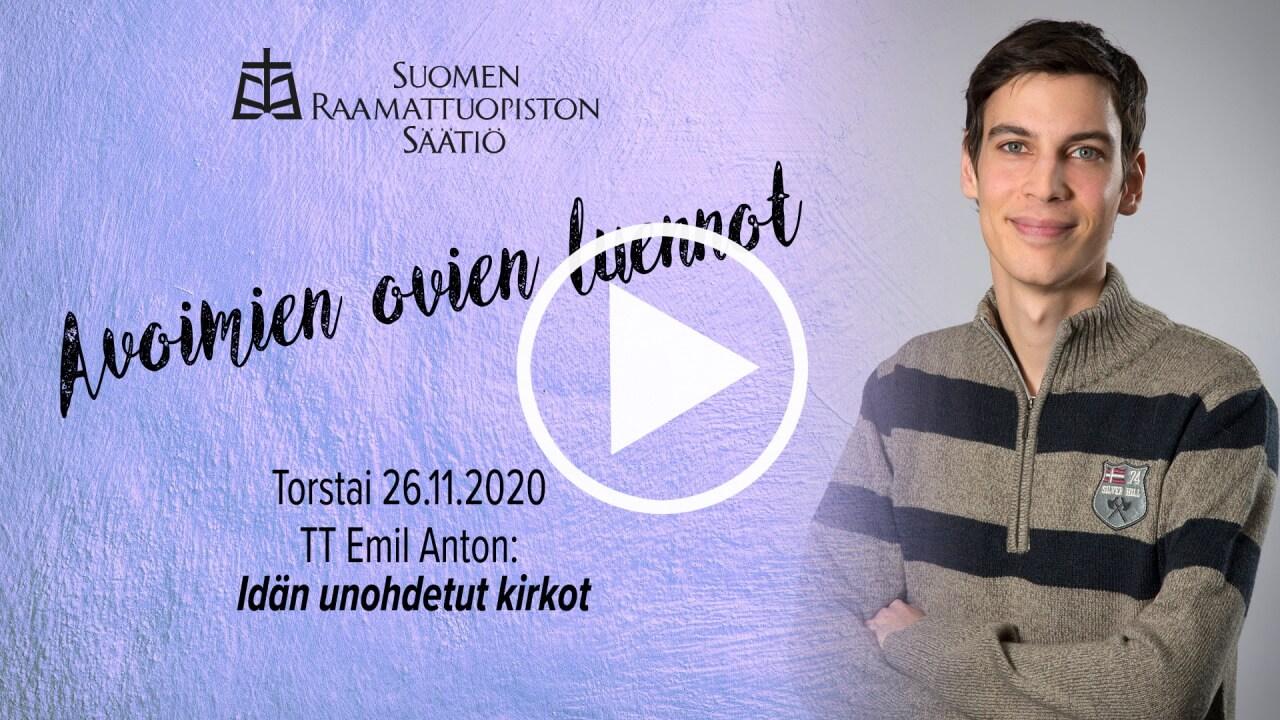 Emil Anton ja tiedot kirkkohistorian yleisöluennosta