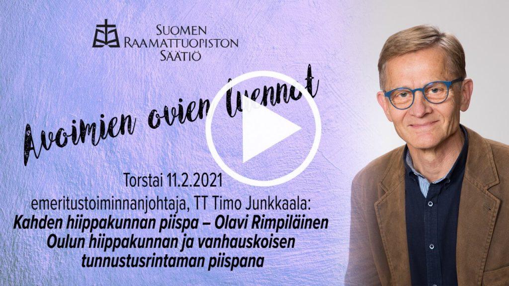 Katso Timo Junkkaalan yleisöluento Olavi Rimpiläisestä