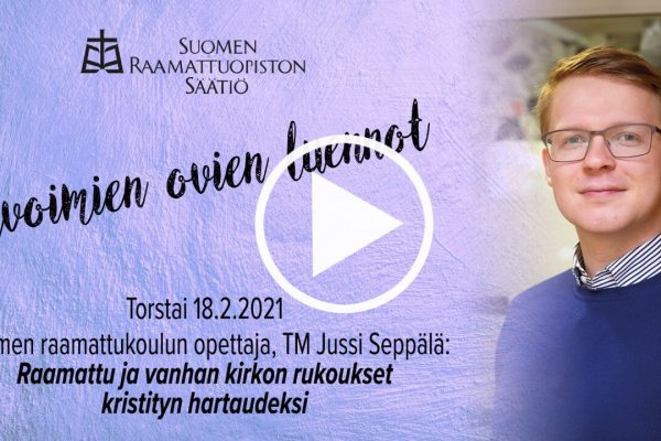 Jussi Seppälän yleisöluento Suomen Raamattuopistossa