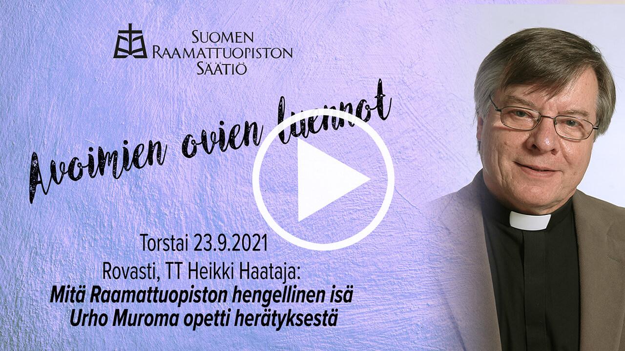 Heikki Haatajan yleisöluentovideon kansikuva